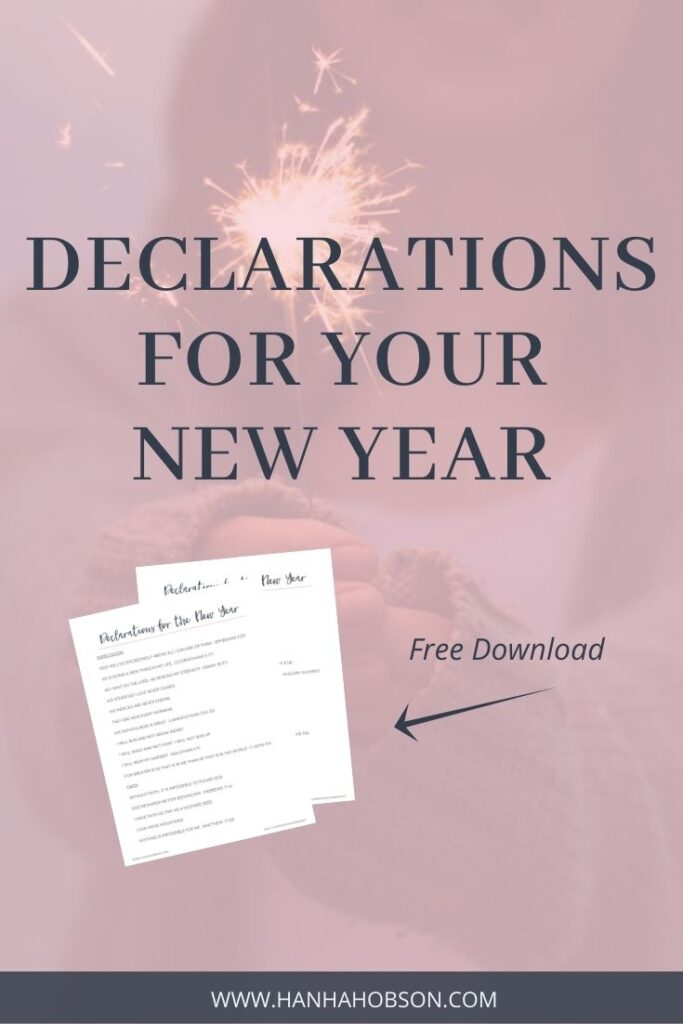 declarations for your new year, devotionals, quiet time, spending time with God, new year